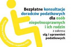 """RUSZA AKCJA  """"Doradcy Podatkowi Niepełnosprawnym""""."""